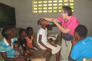 Doctor with Peacework Medical Projects in Ranquitte, Haiti.