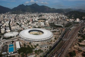 The Maracanã Stadium in Rio de Janeiro, site of the Finals for World Cup 2014. Photograph: Felipe Dana/AP