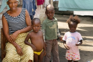 local family in Monrovia, Liberia under observation by the CDC