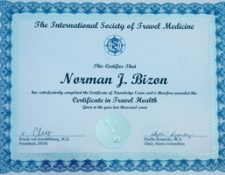 Certificate of Travel Health