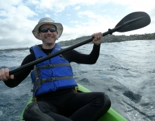 Ocean kayaking, California